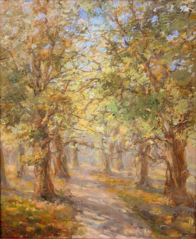 Summer forest. Oil on canvas