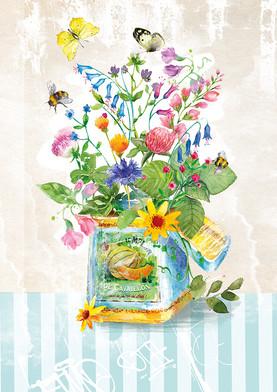 Meadow flowers. Illustration.