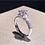 Thumbnail:  Women's Platinum Rose Petals Luxurious Ring