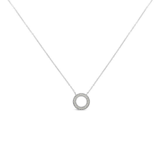 Diamond Circle Hoop Necklace