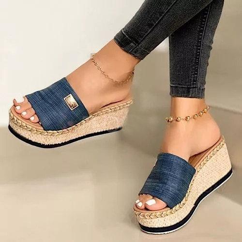 Wedge Platform Flip Sandals