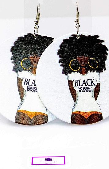 Black Coffee Hoops