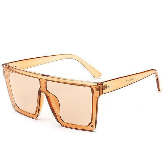 Oversized Vintage Flat Top Sunglasses