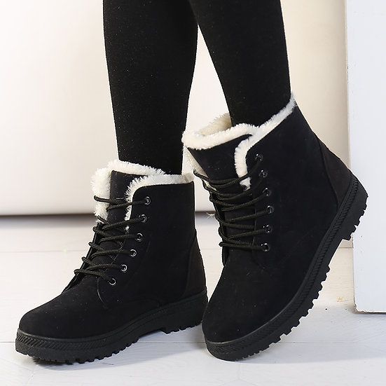 Women Fur Lined Mid Snow Boot