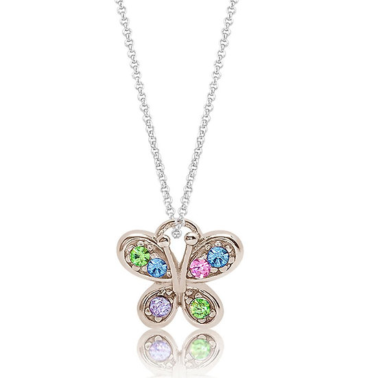 Crystal Butterfly Pendent