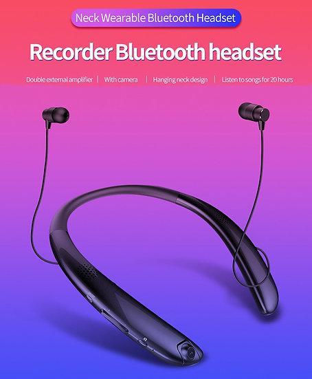 Bluetooth Stereo Retractable Neckband Headphones
