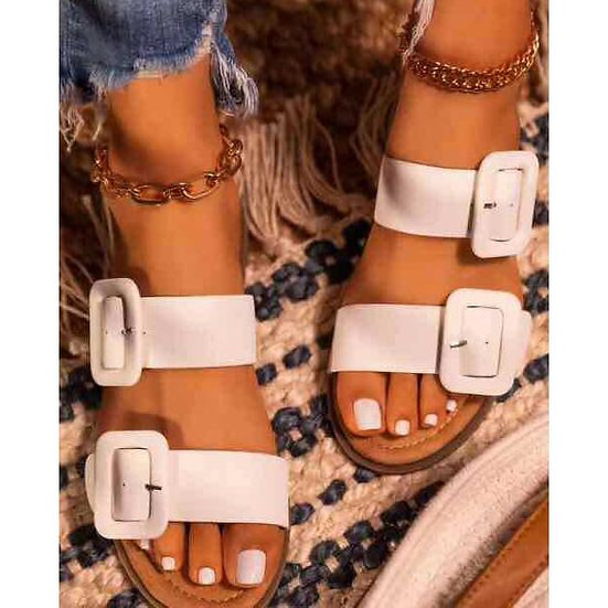 Womens Chic Buckle Sandals