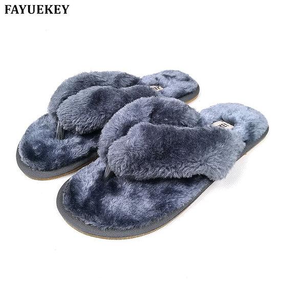 Cotton Plush Women's Slippers