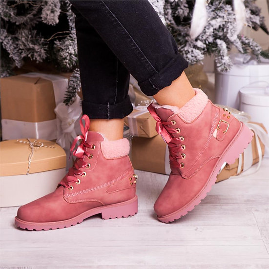 Women's Faux Suede Ankle Snow Boots