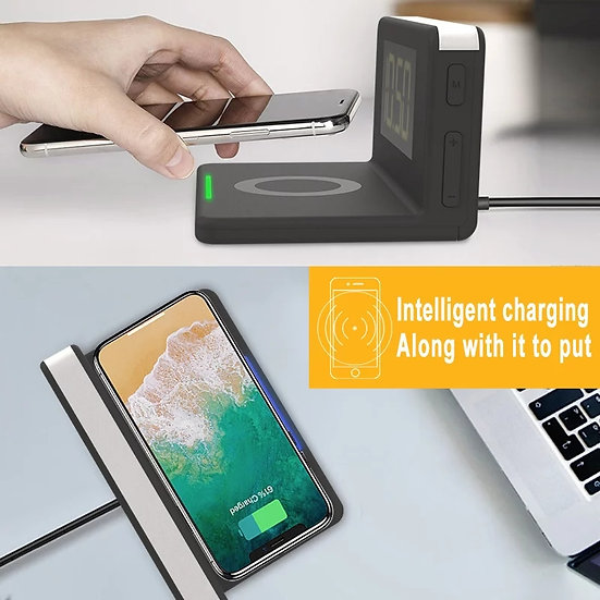 QI Mirror HD Wireless Alarm Charger