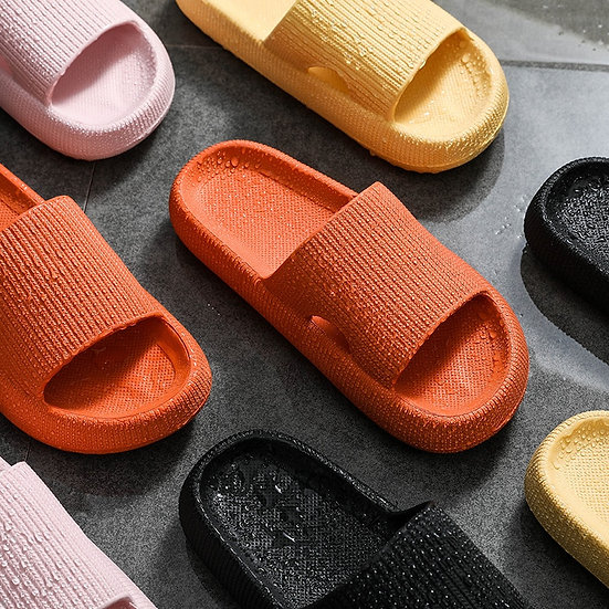 Womens Platform Non-Slip Rubber Slides