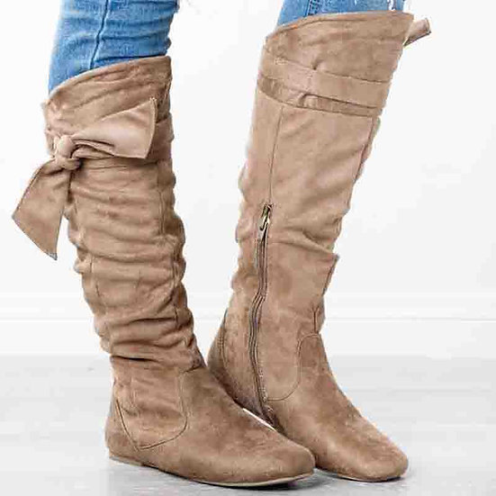 Womens Over The Knee Butterfly Knot Boot