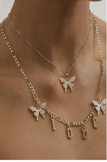 Butterfly Love Letter Necklace