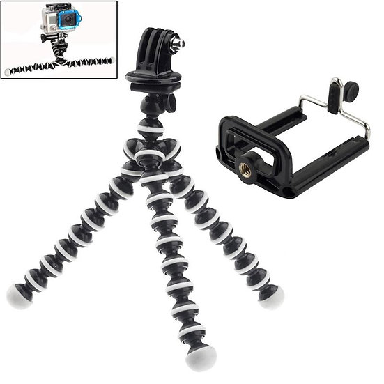 2 in 1 Flexible Tripod with Camera Mount Adapter