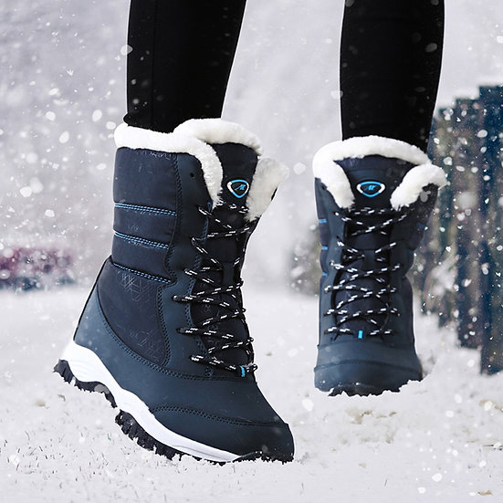 Women's Waterproof Lace Up Snow Boot