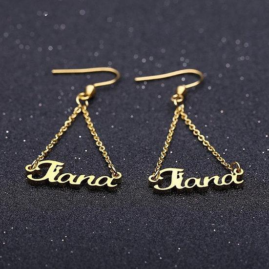 Custom Name Drop Earrings