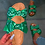 Thumbnail: Women's Bow Cross Leopard Grain Sandals