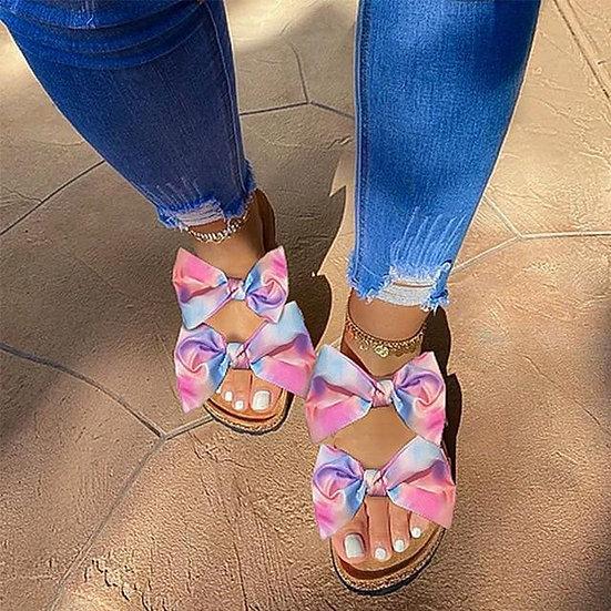 Women's Double Bow Slides