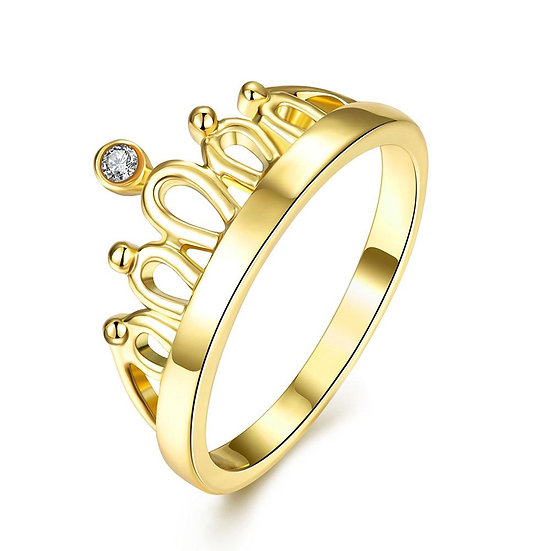 18K Gold Plated Queen's Crown Ring