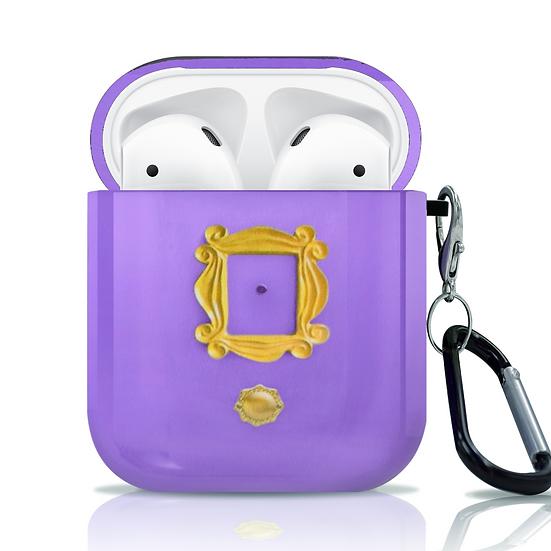 F.R.I.E.N.D.S Apple AirPods 1&2 Case FRIENDS TV Show Purple Monica's