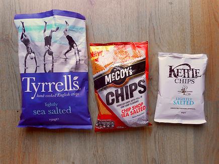 Trio of crisps
