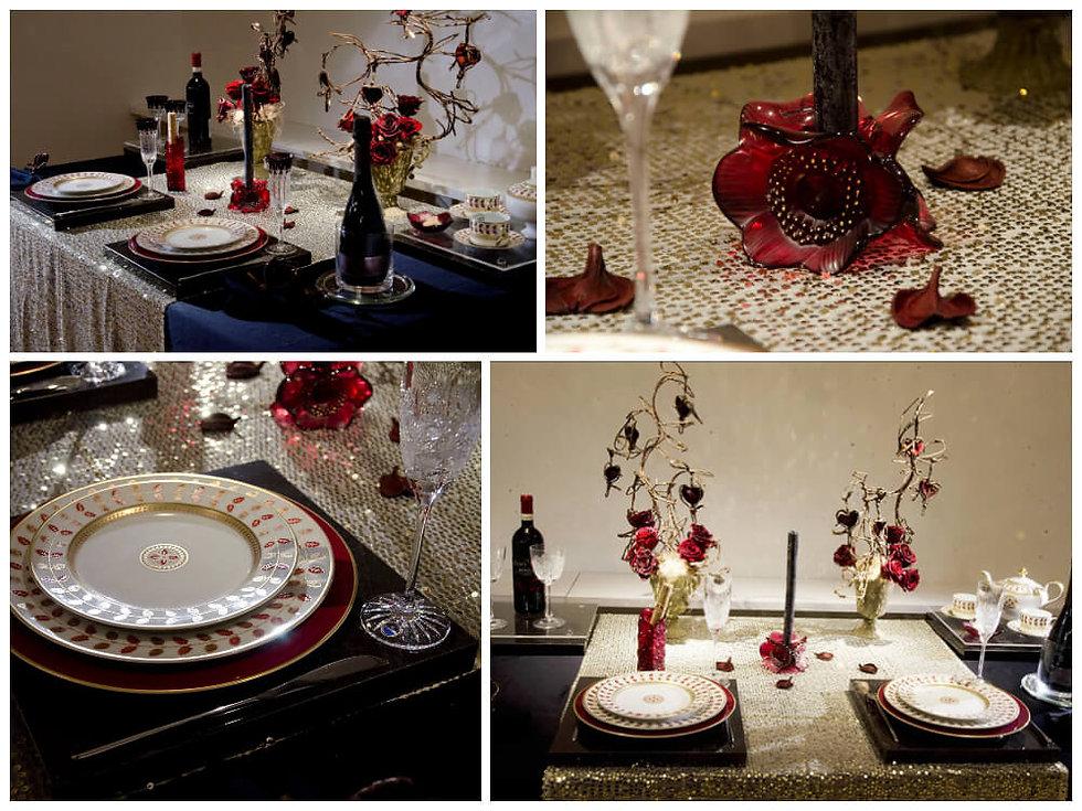 バレンタインズデイのテーブル
