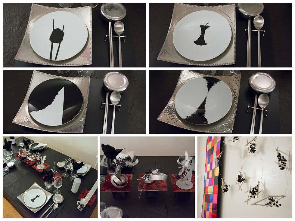 アジアンテイストのテーブル