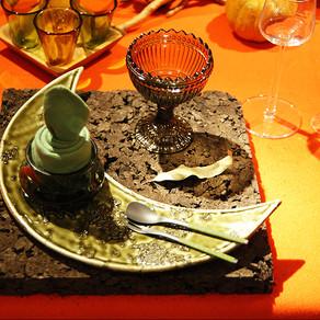 ハロウィンのテーブル