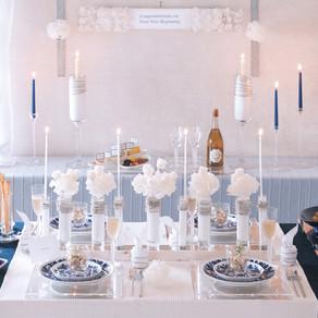 ブライダルシャワーのテーブル