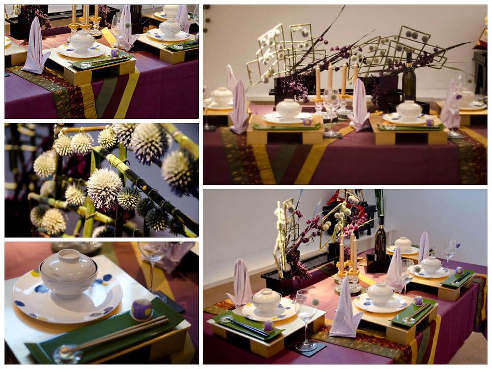 春の和のテーブル