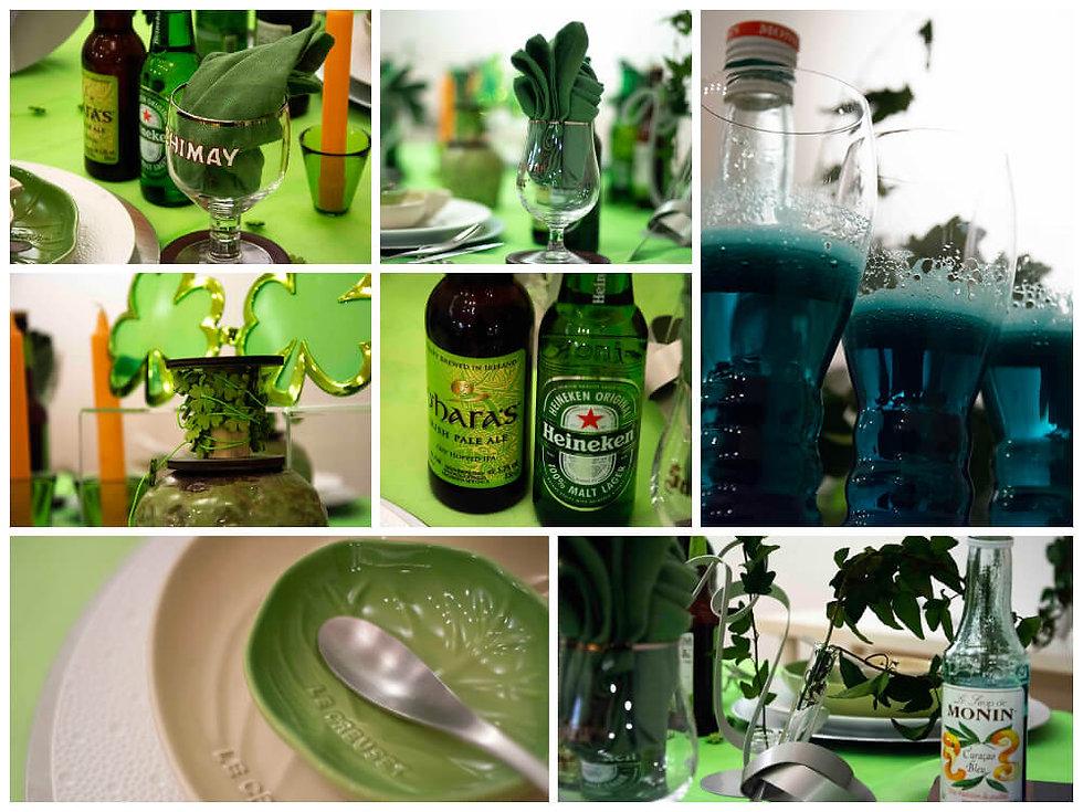 グリーンフェスティバルのテーブル