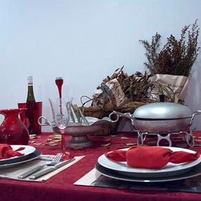 感謝祭の夜のテーブル