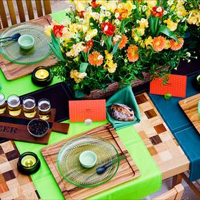 ビアパーティのテーブル
