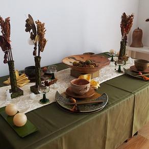 秋の和のテーブル
