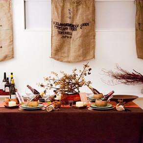 Thanksgiving のテーブル