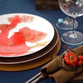 大人のハローウィンのテーブル