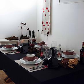 秋の実りのテーブル