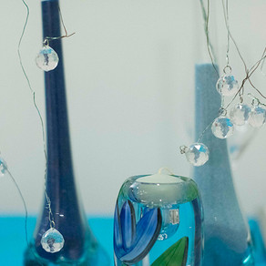 水色のテーブル