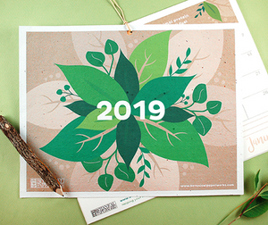 2019 Eco Tips Free Printable Calendar