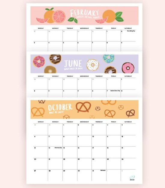 2020 Foodie Printable Calendar
