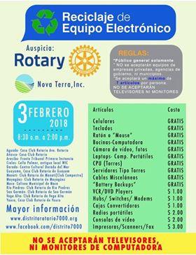 Campaña de Reciclaje de Equipos Electrónicos