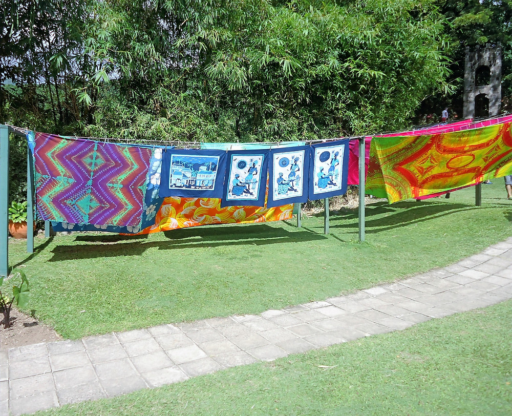 Caribelle Batik Fabrics in the sun
