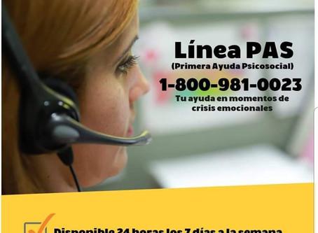 Línea PAS (Primera Ayuda Psicosocial)