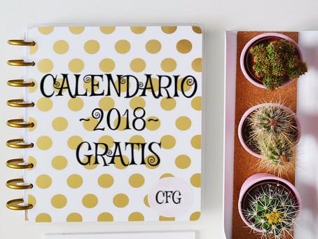 Calendarios 2018 - Imprimibles Gratis