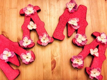 Letras con Flores para Mamá