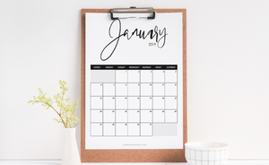 Colorful Disaster - Monthly Printable Calendar 2019,