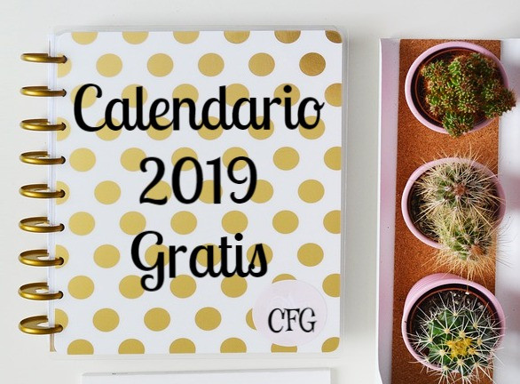 Calendarios 2019 - Imprimibles Gratis