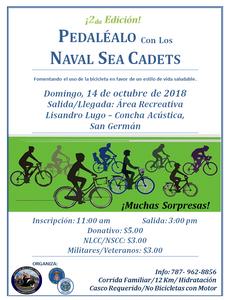 Bicicletada Pedaléalo con los Sea Cadets