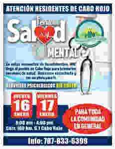 Feria de Salud Mental en Cabo Rojo, Puerto Rico