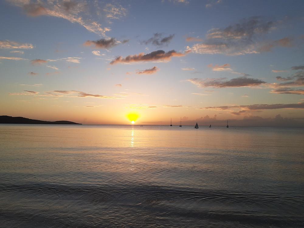 Atardecer en la Bahía de Boquerón, Cabo Rojo, Puerto Rico - Sunset Boqueron Bay, Cabo Rojo, Puerto Rico